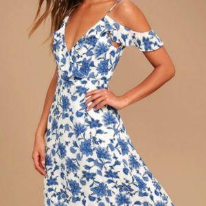 Never worn, Floral Print Summer Dress!